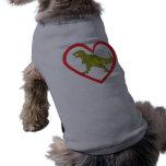 Corazón de T Rex Camiseta De Perro