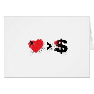 corazón de t tarjeta de felicitación