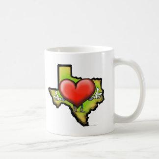 Corazón de Tejas Tazas De Café