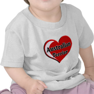 Corazón de Terrier australiano para los amantes de Camisetas