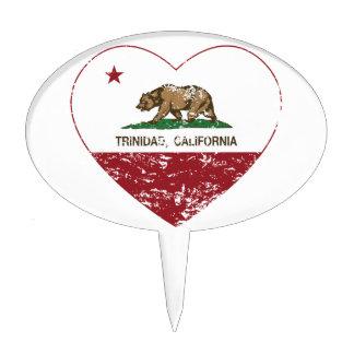 corazón de Trinidad de la bandera de California ap Decoraciones De Tartas