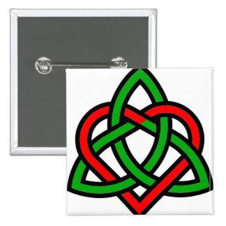 Corazón de Triquetra del Celtic Pin Cuadrada 5 Cm