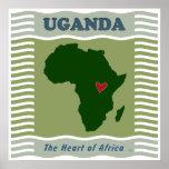 Corazón de Uganda de África Póster