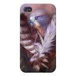 Corazón de un caso del arte del halcón para el iPh iPhone 4 Protector