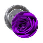 Corazón de un color de rosa púrpura pin