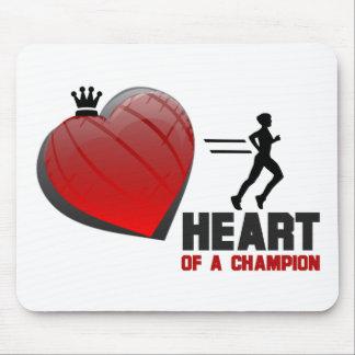 Corazón de un funcionamiento del campeón mousepads