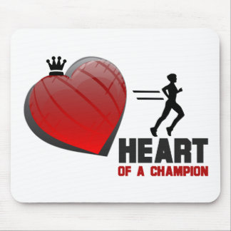 Corazón de un funcionamiento del campeón alfombrilla de ratones
