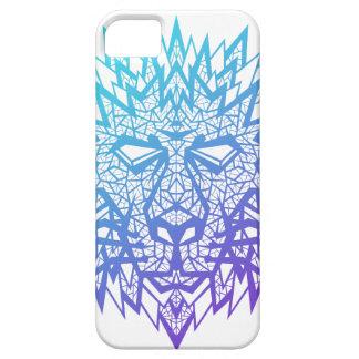 Corazón de un león - caso 5/5s de Iphone - blanco iPhone 5 Protectores