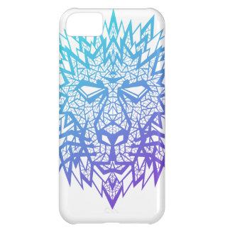 Corazón de un león - caso del iPhone 5C - blanco
