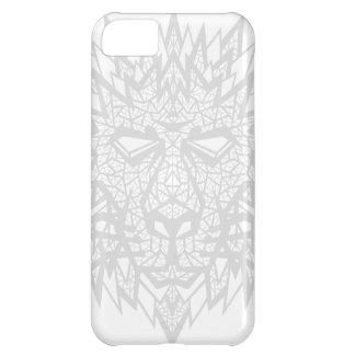 Corazón de un león - caso del iPhone 5C - blanco/g