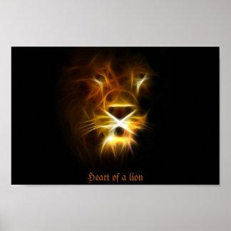 Corazón de un león póster