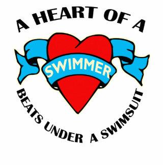 Corazón de un nadador escultura fotográfica