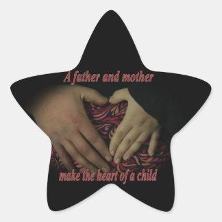 Corazón de un niño pegatina en forma de estrella