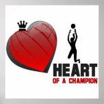 Corazón de un poster del voleibol de las señoras d