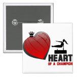 Corazón de una gimnasia del campeón pin