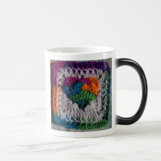Corazón de una taza Morphing del Hippie
