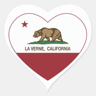 corazón de verne del la de la bandera de pegatina en forma de corazón
