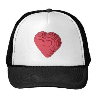 Corazón de Voxel Gorro