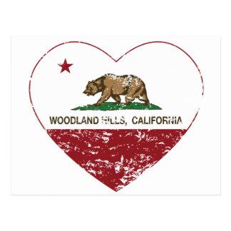 corazón de Woodland Hills de la bandera de Tarjeta Postal
