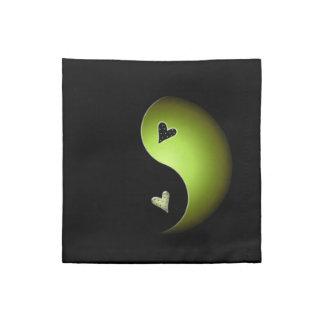 corazón de yang del yin - cal servilleta imprimida