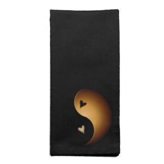 corazón de yang del yin - caramelo servilleta de papel