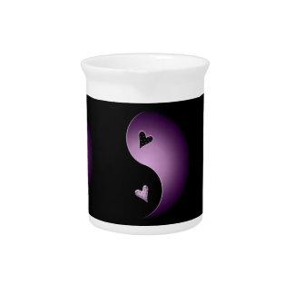 corazón de yang del yin - púrpura jarras para bebida