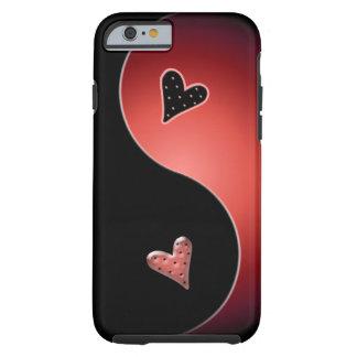 corazón de yang del yin - rojo funda de iPhone 6 tough