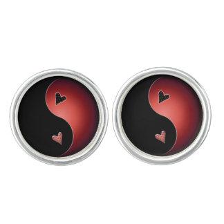 corazón de yang del yin - rojo gemelos