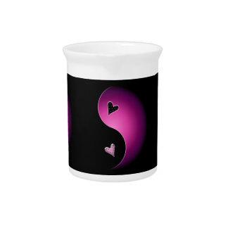 corazón de yang del yin - rosa jarra