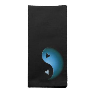 corazón de yang del yin - turquesa servilletas