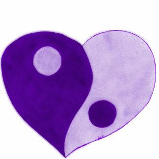 Corazón de Yin Yang púrpura lila Esculturas Fotográficas