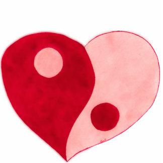 Corazón de Yin Yang rojo rosa Esculturas Fotograficas