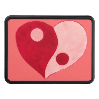 Corazón de Ying Yang (rojo/rosa) Tapa De Remolque
