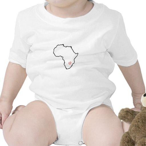 Corazón de Zambia Trajes De Bebé