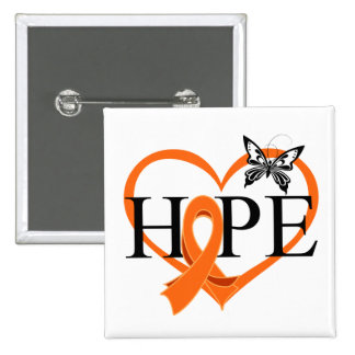 Corazón Décor de la mariposa de la esperanza del c Pins