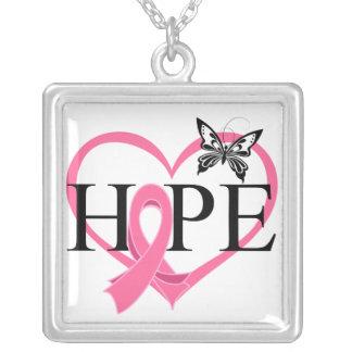 Corazón Décor de la mariposa de la esperanza del c Joyería
