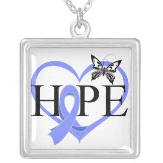Corazón Décor de la mariposa de la esperanza del c Joyerias
