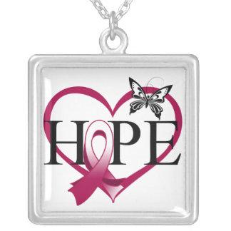 Corazón Décor de la mariposa de la esperanza del c Pendientes Personalizados