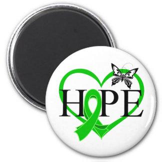 Corazón Décor de la mariposa de la esperanza del c Imán Redondo 5 Cm