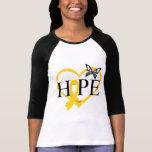 Corazón Décor de la mariposa de la esperanza del Camisetas