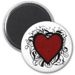 Corazón decorativo iman de nevera