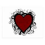 Corazón decorativo tarjetas postales