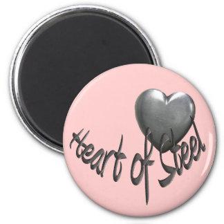 Corazón del acero imán redondo 5 cm