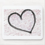 Corazón del aerosol tapetes de ratón