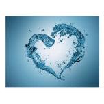 Corazón del agua - postal