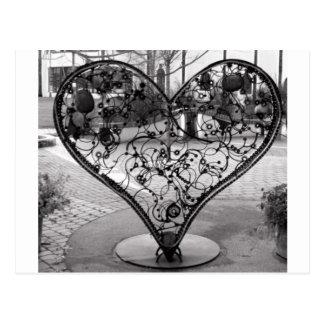 Corazón del alambre tarjetas postales