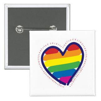 Corazón del alcohol del orgullo gay pin cuadrada 5 cm