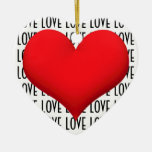 Corazón del amor adorno de navidad