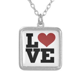 Corazón del amor colgante cuadrado