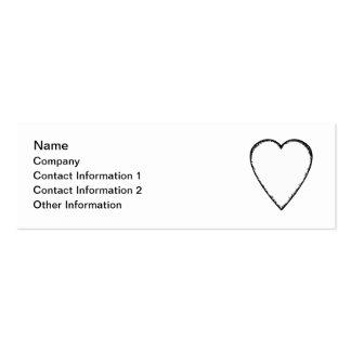 Corazón del amor con el borde del garabato tarjetas de visita mini